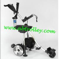 China NEW Electric Power Golf Trolley Folding Motor Golf Caddy With New Handle 36 Holes Battery on sale