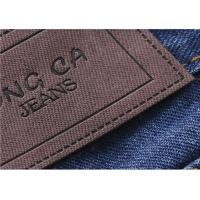 China Logo Printable Embossed Leather Patches With  Leather Clothing Labels on sale