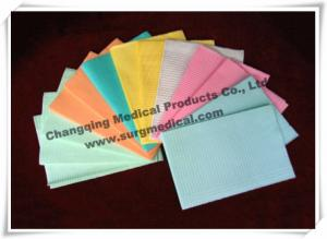 China Waffle Disposable Adult Bibs Colorful Waterproof Comfort , Dental Disposable Products on sale
