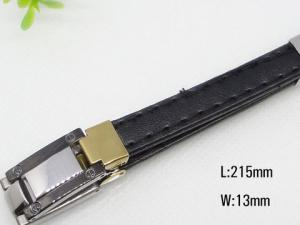 China Customized Stainless Steel Mens Rubber Bracelet 1450020 on sale