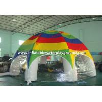 Outdoor Big Air Tight Inflatable Tent With White Tubes And Colorful Roof
