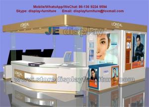 China L'OREAL Counters in White glossy Display Kiosk with acrylic display stand and LED logo on sale
