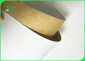 China 300GSM 325GSM Food Grade Clay Coated Kraft Back For Packing Fast Food wholesale