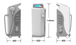 China High Quality 808 Diode Laser Hair Removal / 808nm Diode Laser epilation / Laser Diodo 808 on sale