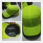 Tissu de polyester de coton de la casquette de baseball KV02 de chapeau de bosse de sécurité