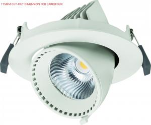 China Adjustable 40W Angled LED Gimbal Downlight Led Recessed Lighting 3500lm on sale