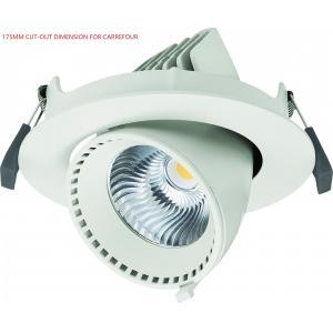China Adjustable 40W Angled LED Gimbal Downlight Led Recessed Lighting 3500lm on sale