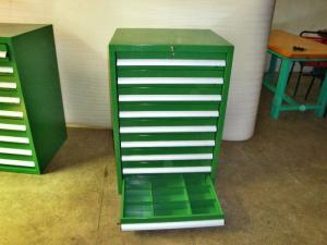 China Industrial Tool Chests And Cabinets With 3 - 15 Drawers , Green on sale
