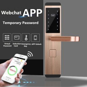 China Anti theft Intelligent Door Lock , Apartment App / Password / Card Induction Lock on sale