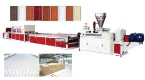 China WPC antisepsis  door board making machine, Imitation wood board machine, Water Resistant Bathroom Door Making Machine on sale