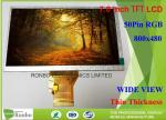 Wide View TFT LCD Display 7.0 Inch RGB Interface Active Area 154.08 * 85.92mm