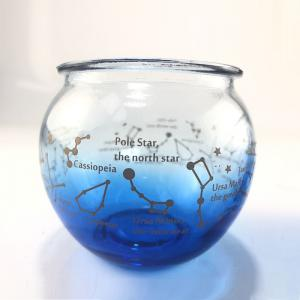 China Round Constellation Zodiac candle glass jar scented candles glass cup candle containers for home party decoration on sale