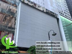 China Metal exterior aluminum laser cut sheet Architectural aluminum facade on sale