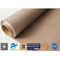 0.16MM Brown PTFE Coated Fiberglass Fabric Non Stick Teflon BBQ Grill Mat Materials