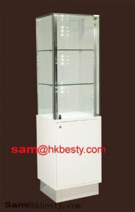 China LED Lights Kundan Jewellery Display Tower Showcase on sale