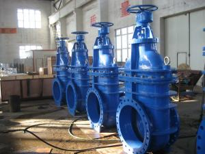 China Big Size Non Rising Gate Valve / Automatic Steel Solid Wedge Gate Valve on sale