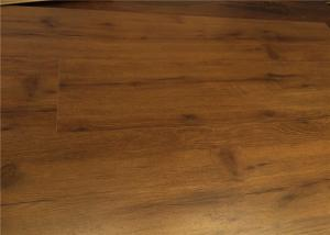 China DIY Laminate Flooring , Walnut Wood Floating laminate floor matte finish with locking click on sale