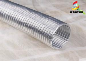 China Ventilation Semi Rigid Flexible Ducting Aluminum For Clothes Dryers on sale