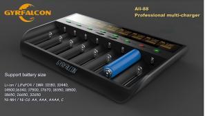 China GYRFALCON All - 88 Smart Battery Charger  Eight slot charger/AU,EU,US,UK plug on sale