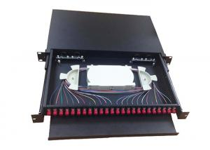China 24 Port Fiber Optic Patch Panel FC 96 Cores 485 * 360 * 45MM 5 . 5Kgs on sale
