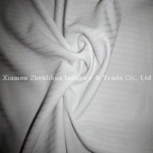 China Tissus de tricotage de mini jacquard de polyester blancs on sale