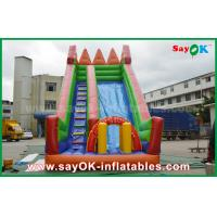 China Safety PVC Tarpaulin Inflatable Bouncer Slide Yellow / Green Color For Playing on sale