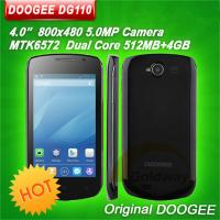 China Original Doogee DG110 4.0 inch MTK6572 Dual Core Mobile Phone Android 4.2 OS WVGA Capacitive Screen ROM 4GB 5MP camera on sale
