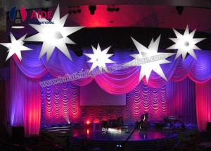 China Balloon Ceiling Light LED Inflatable Star , Waterproof Inflatable Party Decoration on sale