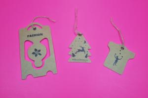 China kraft paper hang tag art paper tag customize shape size and any color on sale