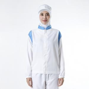 China 100% Modified Polyester Food Industry Uniforms For Seafood Processing Factory on sale