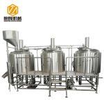 500L malt hopper three vessels stainless steel microbrewery brewing equipment
