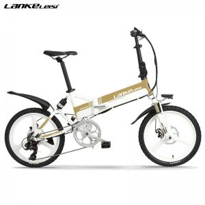 China Automatic 20 Inch Electric Bike , Folding Electric Bicycle Sensing Power 400W on sale