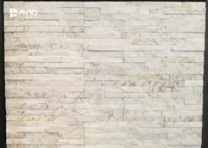 China White Marble Cultured Stone Veneer Panels For Interior And Exterior Decor on sale