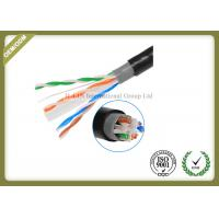 China Outdoor Cat6 UTP Cable Double Jacket , 305 Meters / Roll Optical Ethernet Cable on sale