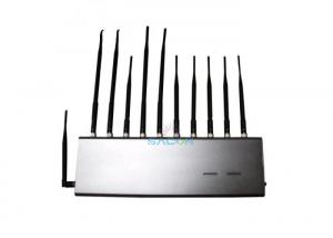 China 4G GPS RF Wifi Signal Jammer 11 Antennas For School / Conference Room on sale