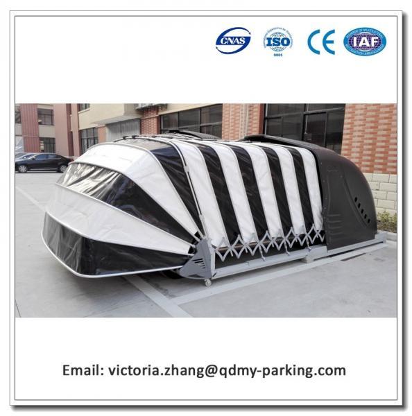 Portable Parking Garage >> Solar Powered Retractable Automatic Car Parking Tent Garage