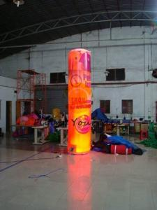 China 5m Customized Color Advertising Helium Balloons Inflatable Pillar With Light For Party on sale