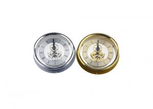 China Vintage Stainless Steel Skeleton Clock Movement With Edge Transparent Back Cover on sale