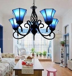 China Cheap Retro European Mediterranean Tiffany Lamps Pendant lights baroque Chandeliers on sale