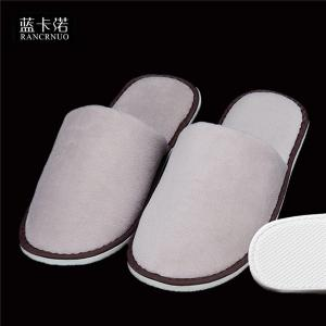 China RANCRNUO OOC-SL one time disposable velour fabric hotel slippers on sale