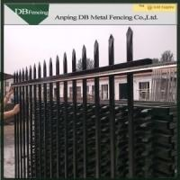 Security Decorative Wrought Iron Fence Hot Dipped Galvanized Corrosion Resistance