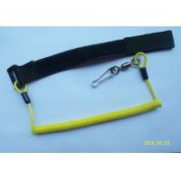 Window Cleaning Coiled Spiral Safety Tool Lanyards Yellow With  / Swivel Link