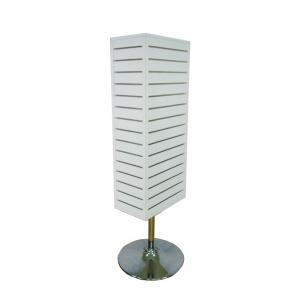 China 4 Sided Metal Hooks Free Standing Wooden Retail Display Stands on sale