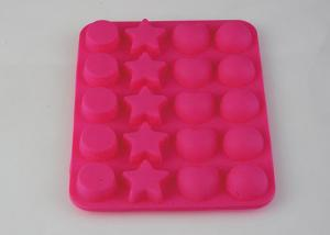 Quality Non - Stick Silicone Ice Trays 20 Cavity , Decorative Ice Cube Trays Holder for sale