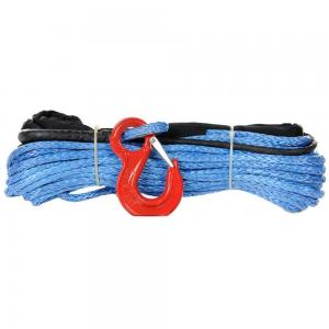 China Blue Fiber Winch Cable , 4x4 Offroad 10k PP Nylon Rope Woven Bag Packed on sale