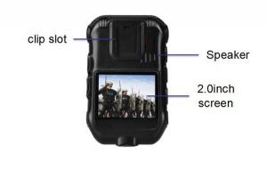China Waterproof Police Wearing Body Cameras , Gps Tracker Camera ROSH Approved on sale