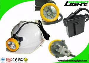 China Waterproof Underground Cordless Cap Lamp Mining 216 LUM 1.67W With Black Body on sale