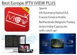 Europe IPTV IVIEW PLUS  IPTV Apk stable for UK GR Italy Germany Netherland Arabic channels with catch up