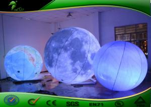 China Waterproof Size Custom Advertising Inflatable Moon Ball With LED Light on sale