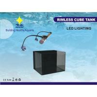 China 45L Sponge, Carbon Filtering System Marine Cube Nano Fish Tank Aquariums With 8W LED Lamp on sale